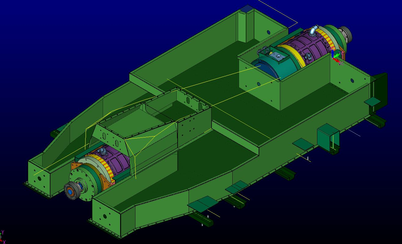 Cad Model of Battery Box with Motors