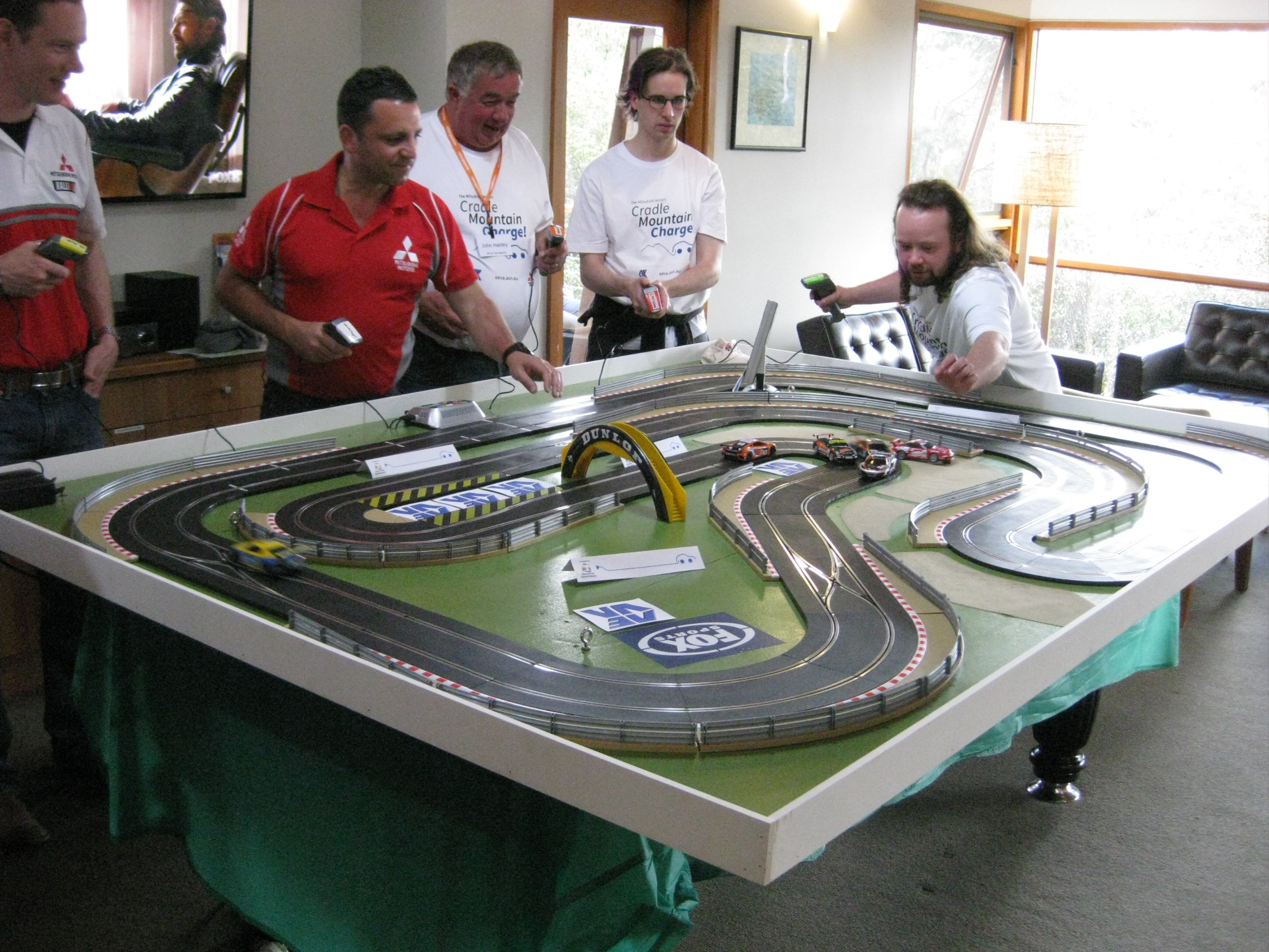 Electric car racing at Cradle Mountain Lodge