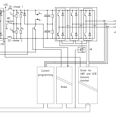 Regen braking bridge rectifiers aeva forums consider the above extract of a vfd circuit the six igbts on the top right have reverse conduction diodes built in effectively the 3 phase h bridge sciox Images