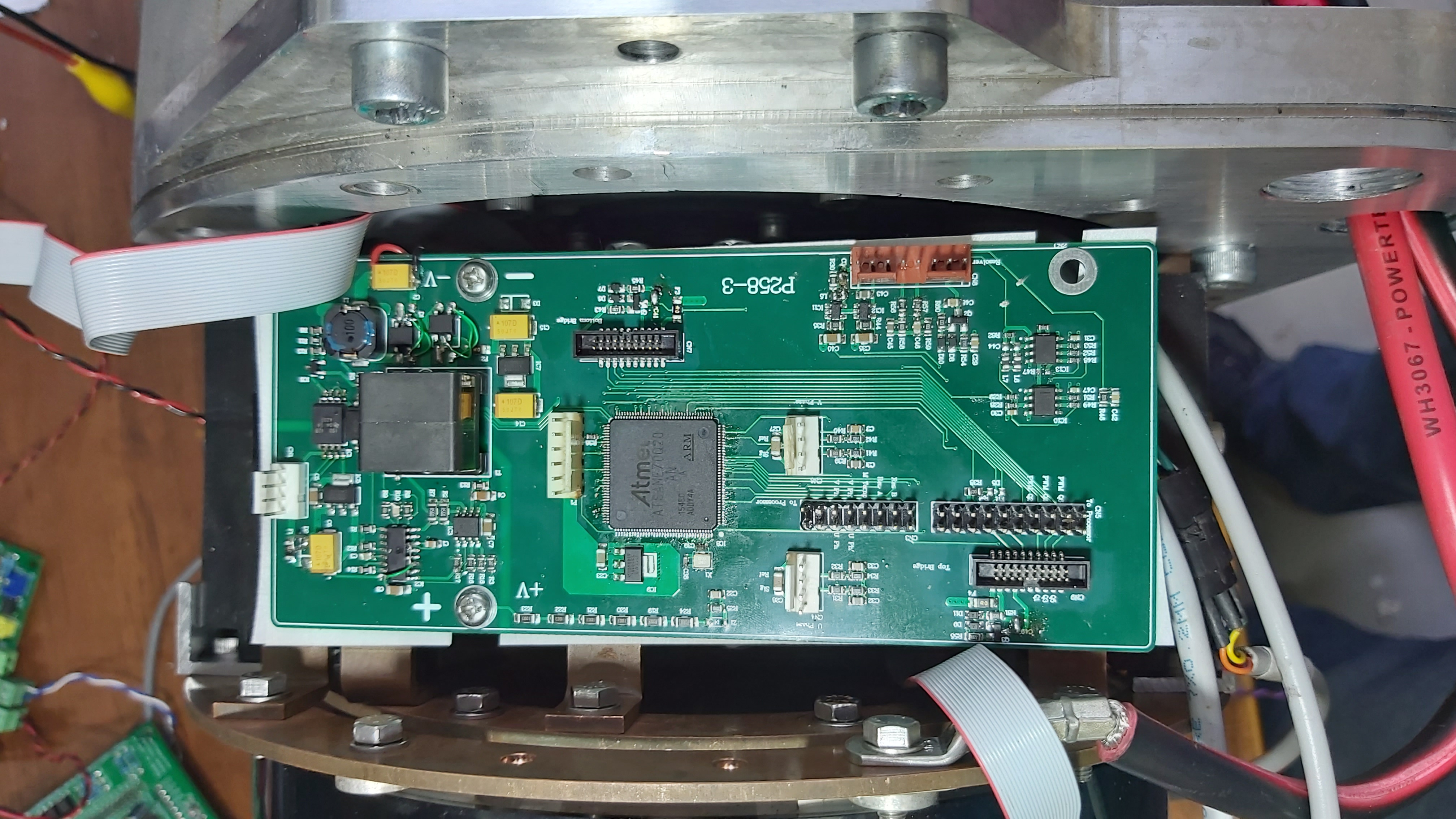 Inverter logic board bolted to power stage.
